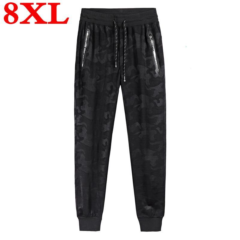 Büyük beden 8XL 7XL 6XL Kamuflaj Jogger Pantolon Erkekler Saf Pamuk Erkek İlkbahar Sonbahar Kalem Harem Pant Erkekler Rahat Pantolon