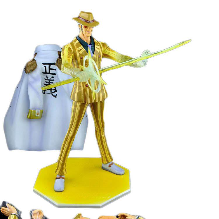 One Piece Action Figure Yellow Monkey Kizaru NEO-DX P.O.P Excellent Model PVC Figure 24cm High Toys Kids Birthday Gift