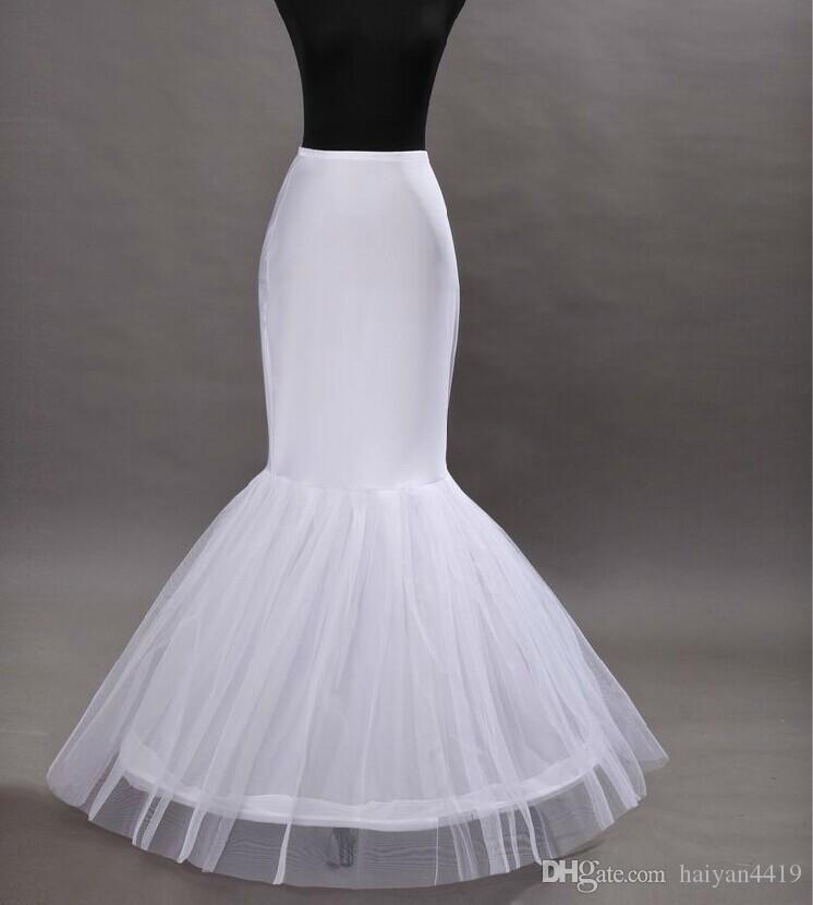 NOUVEAU CHEXT CHES CHANGE SUR 1 HOOP NET PETTICOAT ROBE DE MARIAGE MERMAID CRINOLINE PROM Robes de soirée Petticoats Accessoires de mariage de mariée