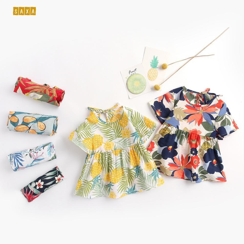 Baby girl dress 2019 baby vestiti moda stampa ragazza floreale estate zanzara vestito neonato 6 mesi - 4 anni
