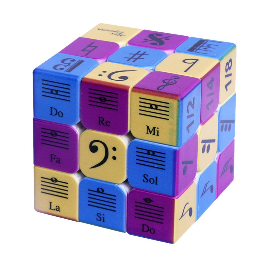 Padrão 3x3x3 notas da música Magic Speed Cube Cube puzzle para crianças de briga com Kit Adulto Training Set Y200428