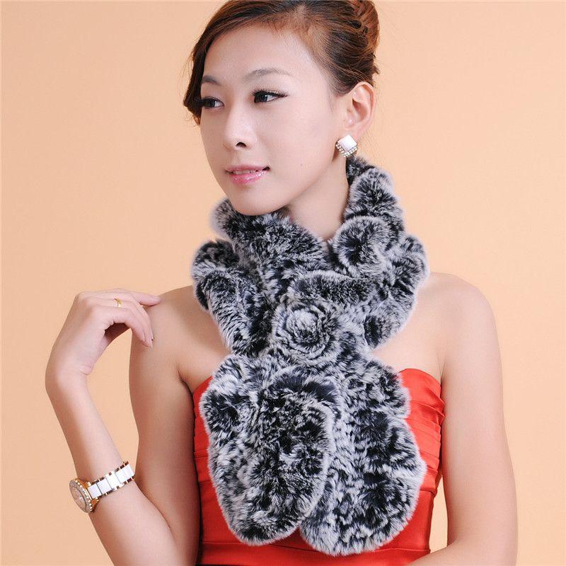Качество женщин переплетения меховой шарф модные аксессуары шарф женщины зима теплый мех Гарантия качества бесплатная доставка