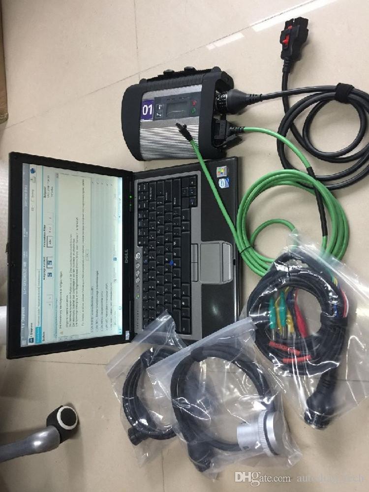 SD conectar c4 com 07.2019 ssd epc xentry dts função especial para diagnóstico de buss de caminhão de carro MB com d630 laptop pronto uso