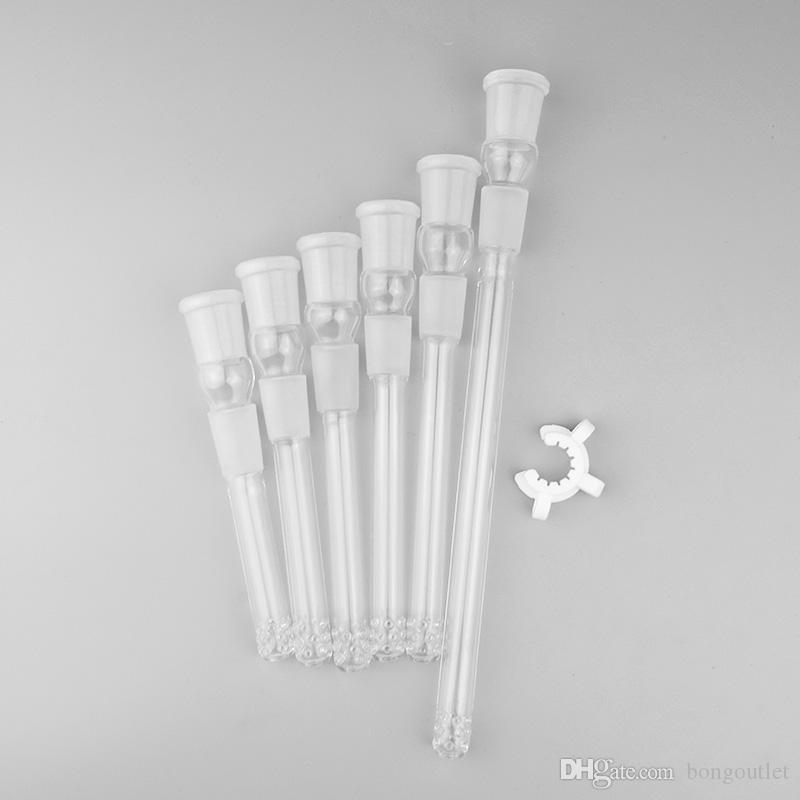 18F bis 18m Downstem Pipes mehrere Längen unten Stiel für Becher Bong Bong Rauchen Wasserrohr Bong Bohrinseln