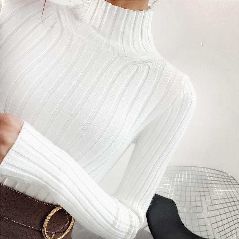 2018 Белый свитер и полу небольшой свежий женский короткий толстый тонкий плотный с длинными рукавами все соответствующие трикотажные рубашки S18100803