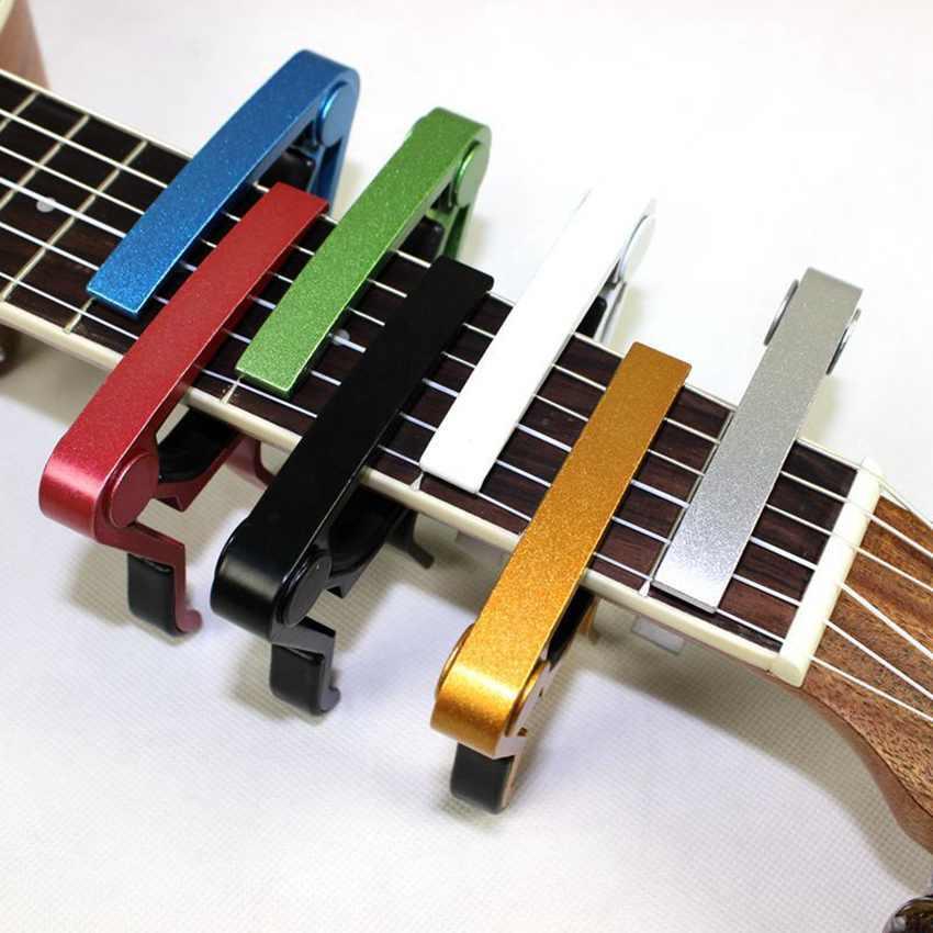 Liga de alumínio do metal New guitarra Capo Quick Change chave Grampo Guitarra acústica clássica Capo Para Tone Ajustar ZZA1778