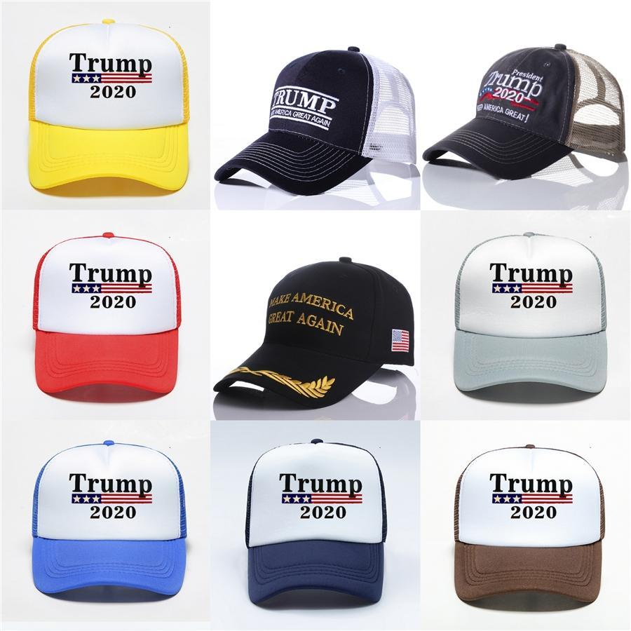 10Styles Trump Camouflage Baseball Chapeau Keep America Grand 2020 Lettre Hat Autocollant Snapback extérieur Plage Voyage 5,11 Cap Party # 55 Ffa195