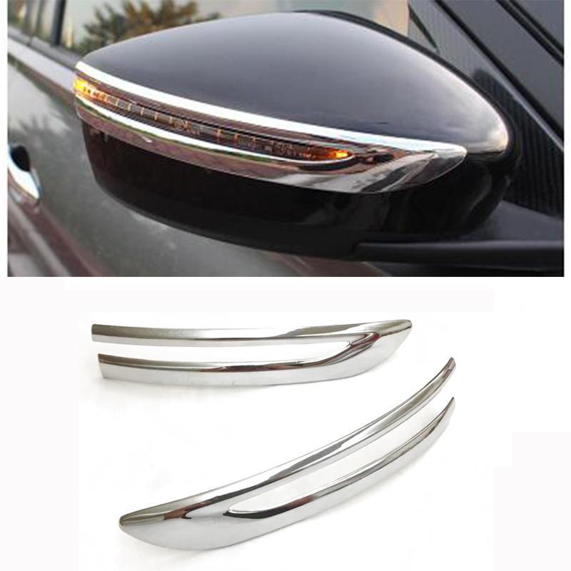 اكسسوارات السيارات ABS مطلي بالكروم مرآة الرؤية الخلفية الغلاف الخلفي تريم صب لنيسان ركلز 2017 التصميم السيارات