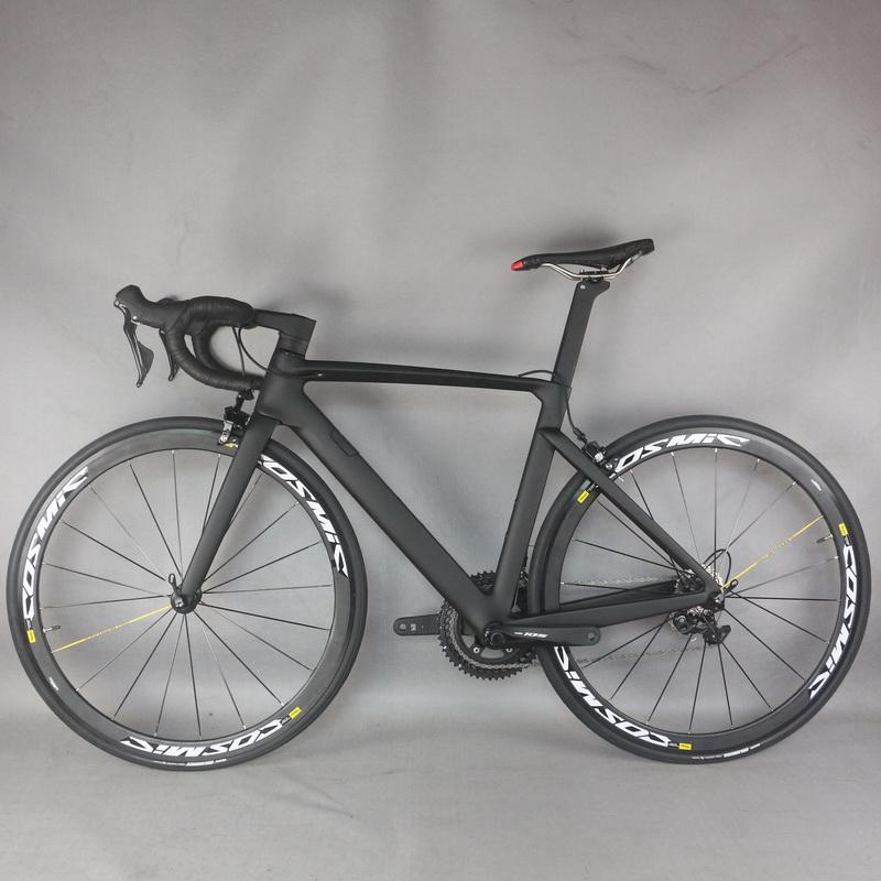2021 NEW complete bike Carbon frame V brake bicycle New EPS technology Di2 road frame bike Internal Cable cycle T1000 TT-X26