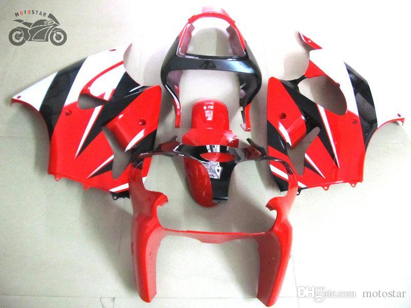 Feedings da carroça de injeção para Kawasaki Ninja ZX6R 636 2000 2001 2002 Red Black Motorcycle Fairing Kits ZX-6R 00 01 02 ZX 6R