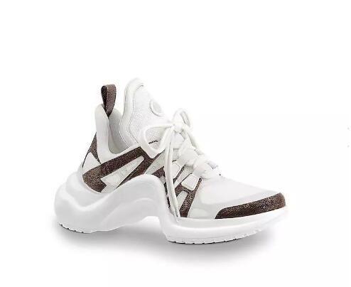 2018 YENİ Lüks kadın Archlight sneaker Erkek Gerçek Deri Eğitmenler TPU dış taban Günlük Ayakkabılar Runner Ayakkabı 7 renk (toz torbası ayakkabıların)