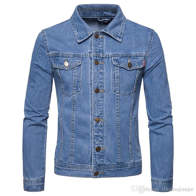 2019 Denim Jaqueta Casaul Dos Homens Slim Fit Jaquetas Jaquetas Streetwear Mens Jaqueta de Cowboy Calça Jaquetas Jaqueta Plus Size XL-5XL