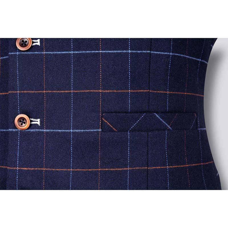 New Fashion Men's Plaid Vest Formal Dress Business Casual Slim Suit Vest British Style Waistcoat Wedding Vest Male Clothing