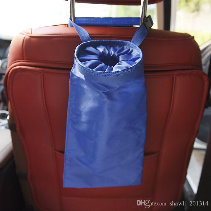 New Portable Car Dustbin Garbage Bag Dust Seat Back Storage Rubbish Bin Box Case Sundries Holder Organizer Pocket Bags Trash Can