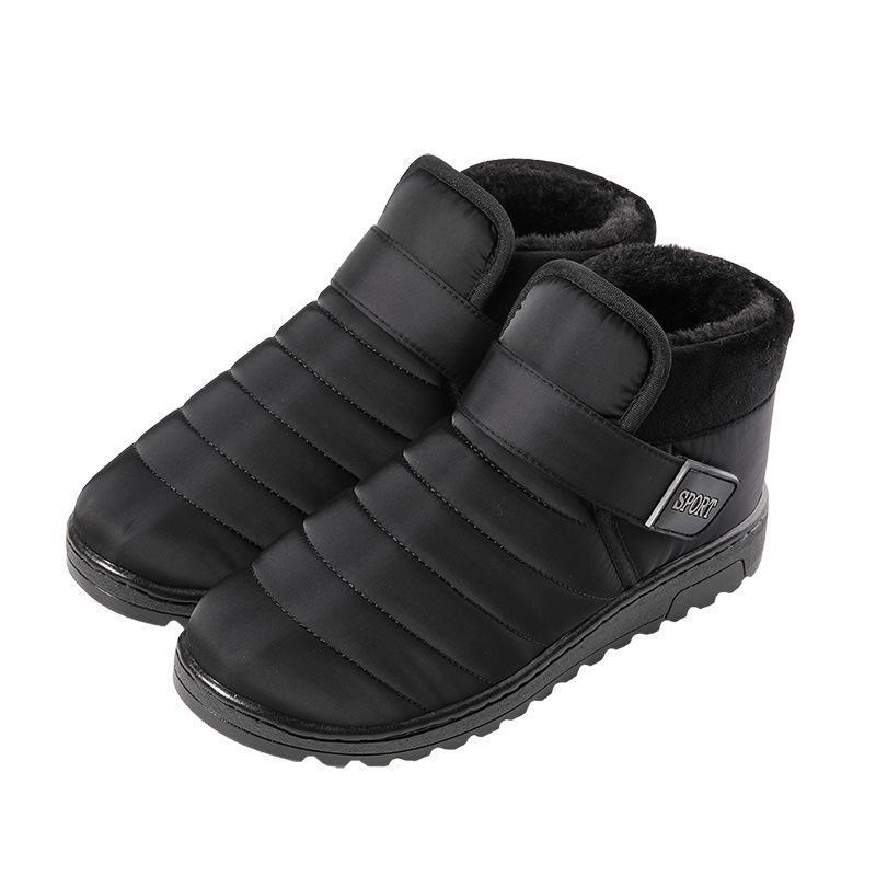 Kalın Açık Sıcak Pamuk Ayakkabı Açık Bayan Çizme Nefes Kayma Açık