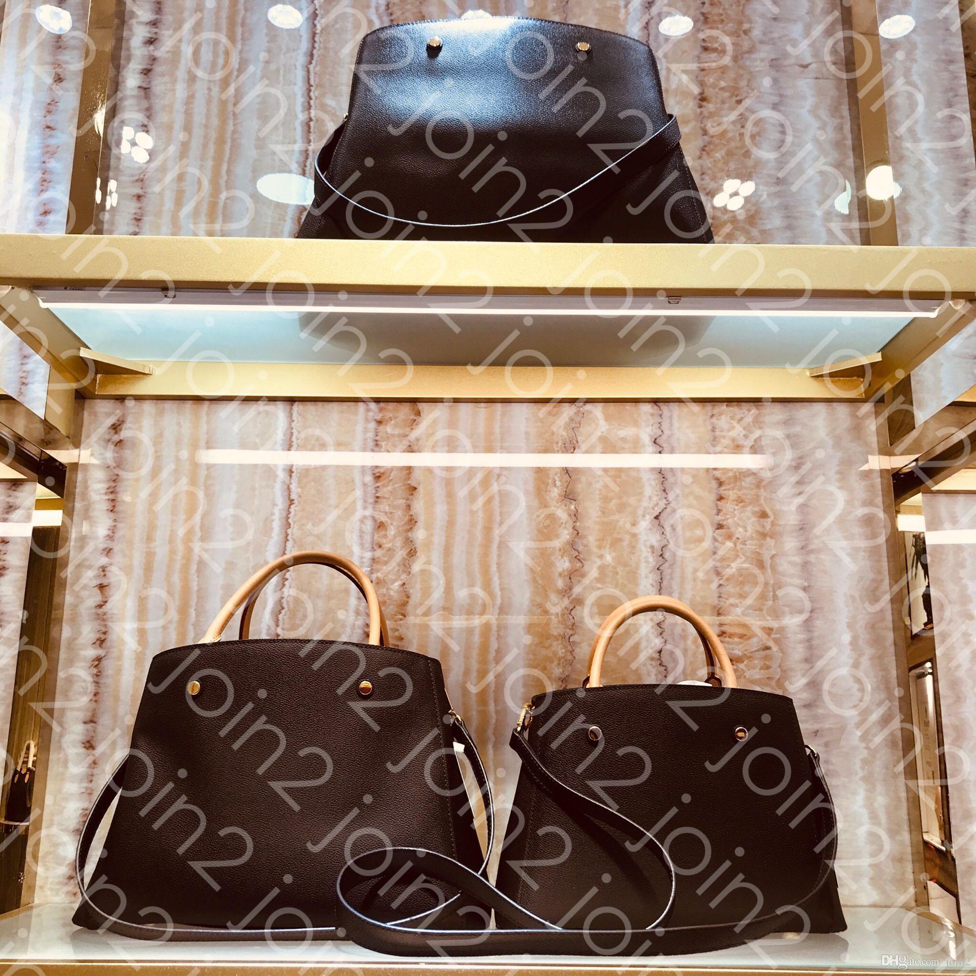 Hombro SAC MONTAIGNE GM MM BB manera de las mujeres de negocios de asas del bolso Cruz de cuerpo bolsa asa superior monedero icónica Brown M41056 de la lona impermeable