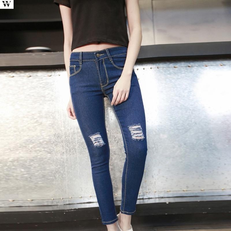 Anne Jeans Açık Mavi Artı Boyutu Ayak Bileği Uzunlukta Kargo Pantolon 2020 Yeni Sonbahar Rahat Düz Kot Kadın Giyim Feminina 4.17