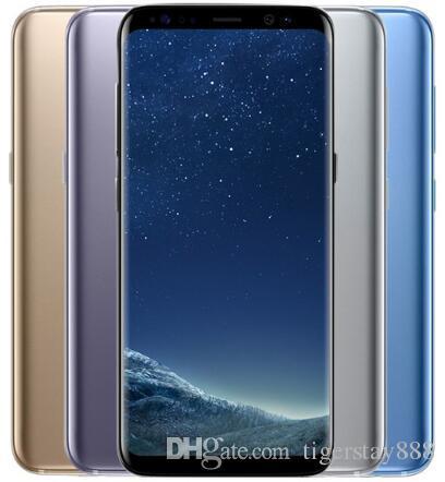 "1PCS الأصلي مقفلة سامسونج غالاكسي S8 S8 PLUS الهاتف 5.8 ""/6.2 '4GB RAM 64GB ROM الثماني الأساسية 3000mAh وتجديد الهاتف"