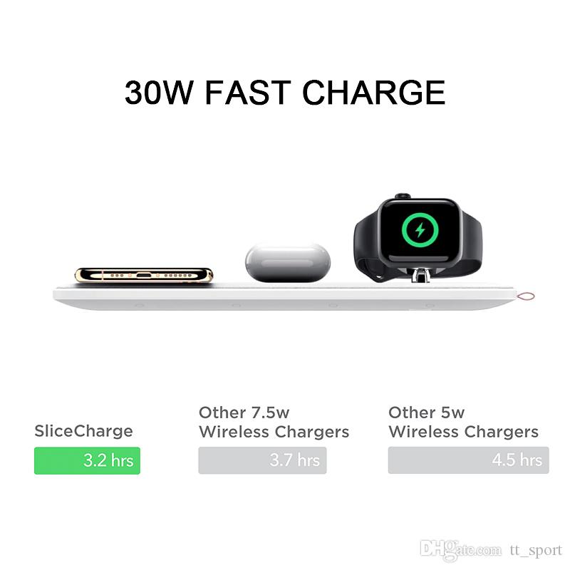 Galaxy S10//S9//Note9 30W Qi-Certified Wireless Charging Pad,6-Coils Wireless Charging Mat Slicecharge Pro,Wireless Charger Compatible iPhone Xs Max//XR//XS//X//8//8 Plus Blue