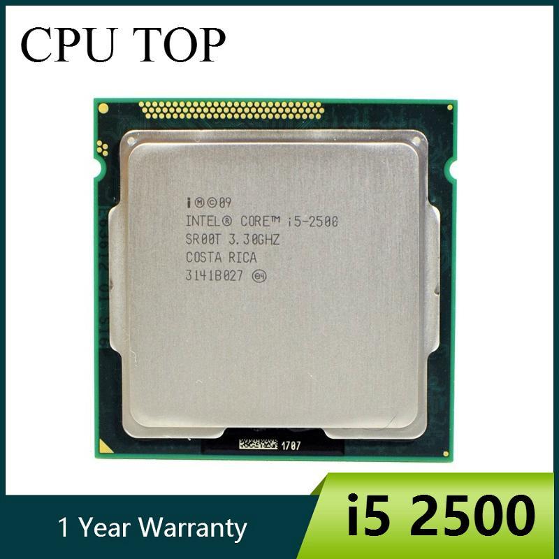 Günstige CPUs Intel Core i5 2500 3,3 GHz 6M 5.0GT / s SR00T CPU Quad-Core Desktop-Prozessor CPUs Computer Büro