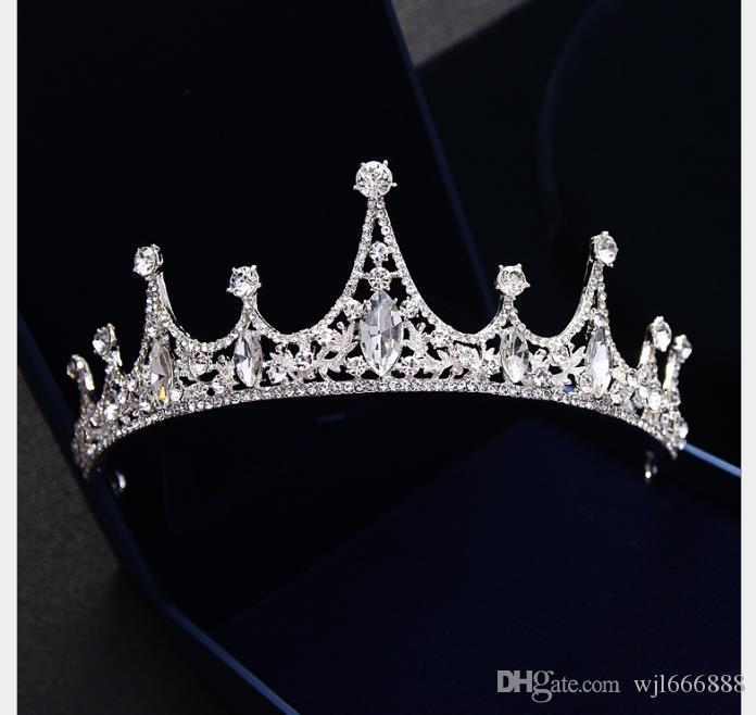 Cocar Noiva Casamento Jóias Jóia Do Cabelo Do Casamento Da Coroa Da Rainha Acessórios Da Água Diamante Coroa