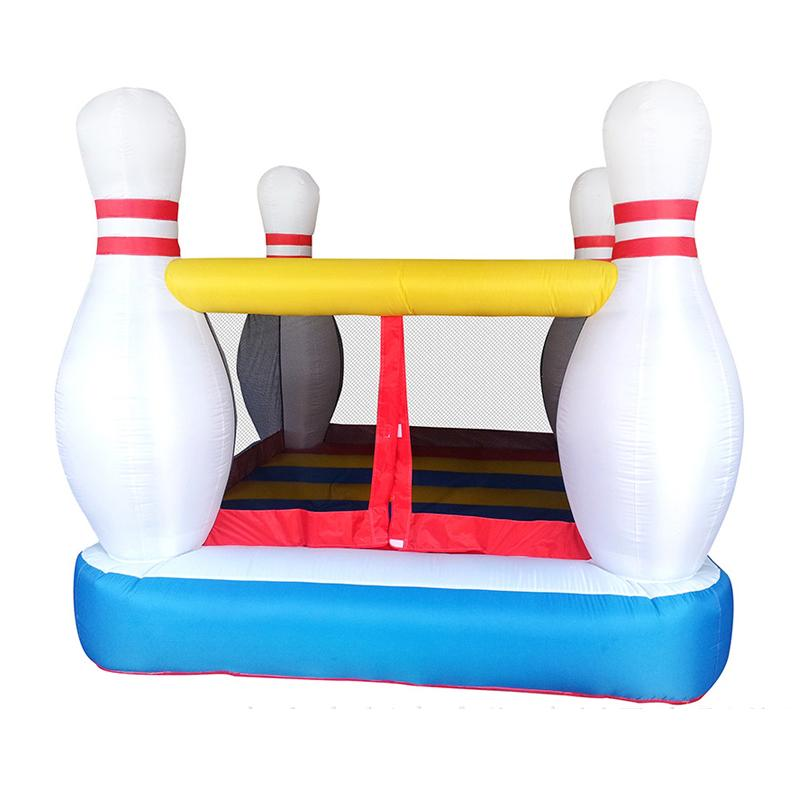 Inflatable Bowling Bouncer Castle Small Bounce House Bowling House for Kids Family use Exercise Bowling Bouncer