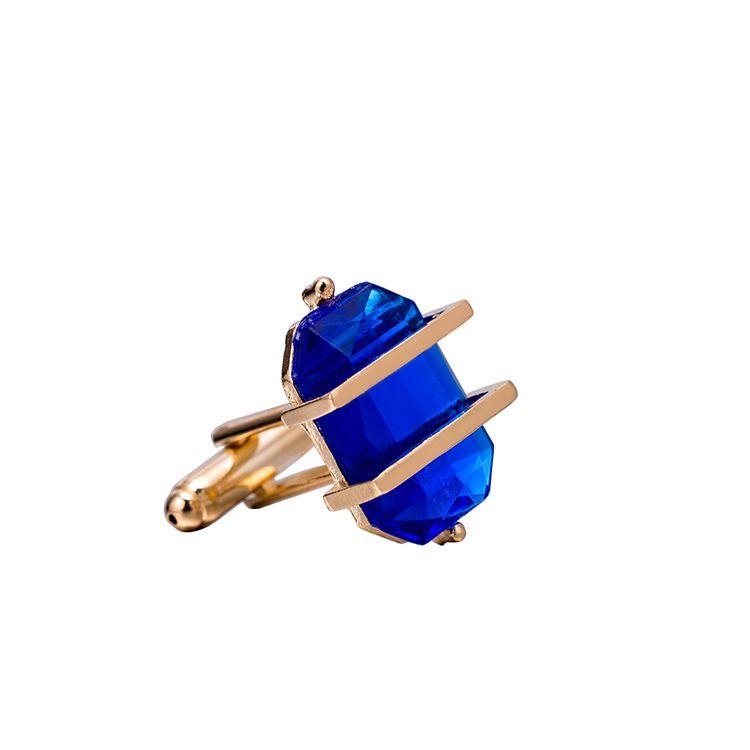 Boutons de manchette de style européen et américain mens nouveaux produits liste de haute qualité czech bleu vert diamant chemise bouton bouton pression