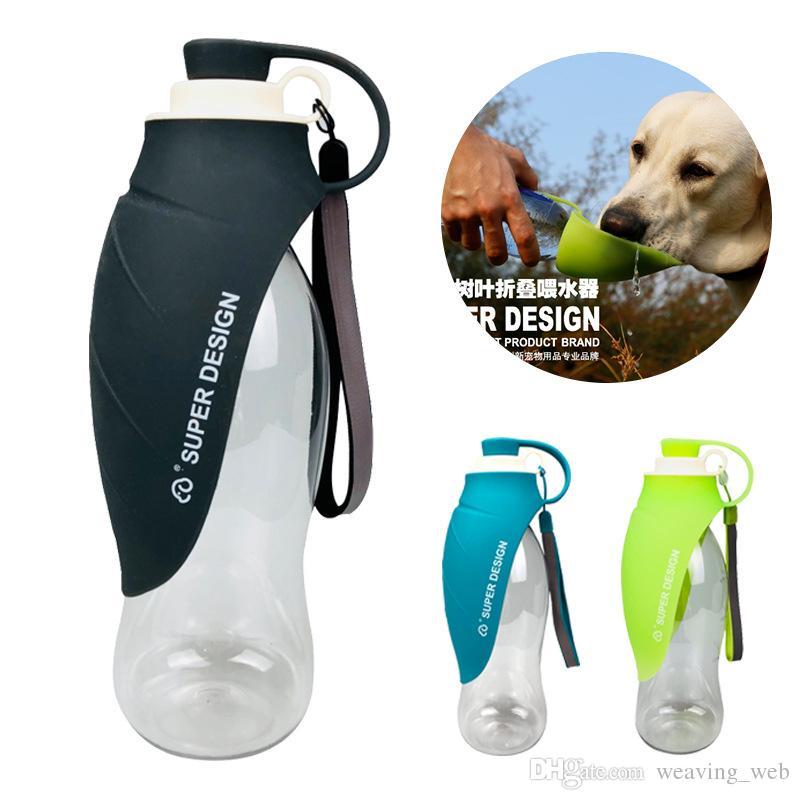 المحمولة زجاجة المياه الكلب ، في الهواء الطلق مستلزمات الحيوانات الأليفة غلاية القط زينة مكافحة انسكاب خارج تصميم علب المياه الحيوان الاحتياجات اليومية