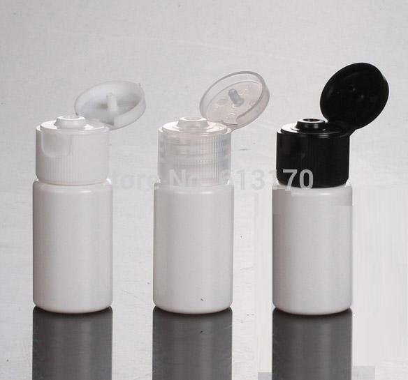 10ML boş çevirme kapağı losyon şişeleri beyaz PET şampuan şişesi küçük bir örnek kozmetik ambalaj kapları 100pcs