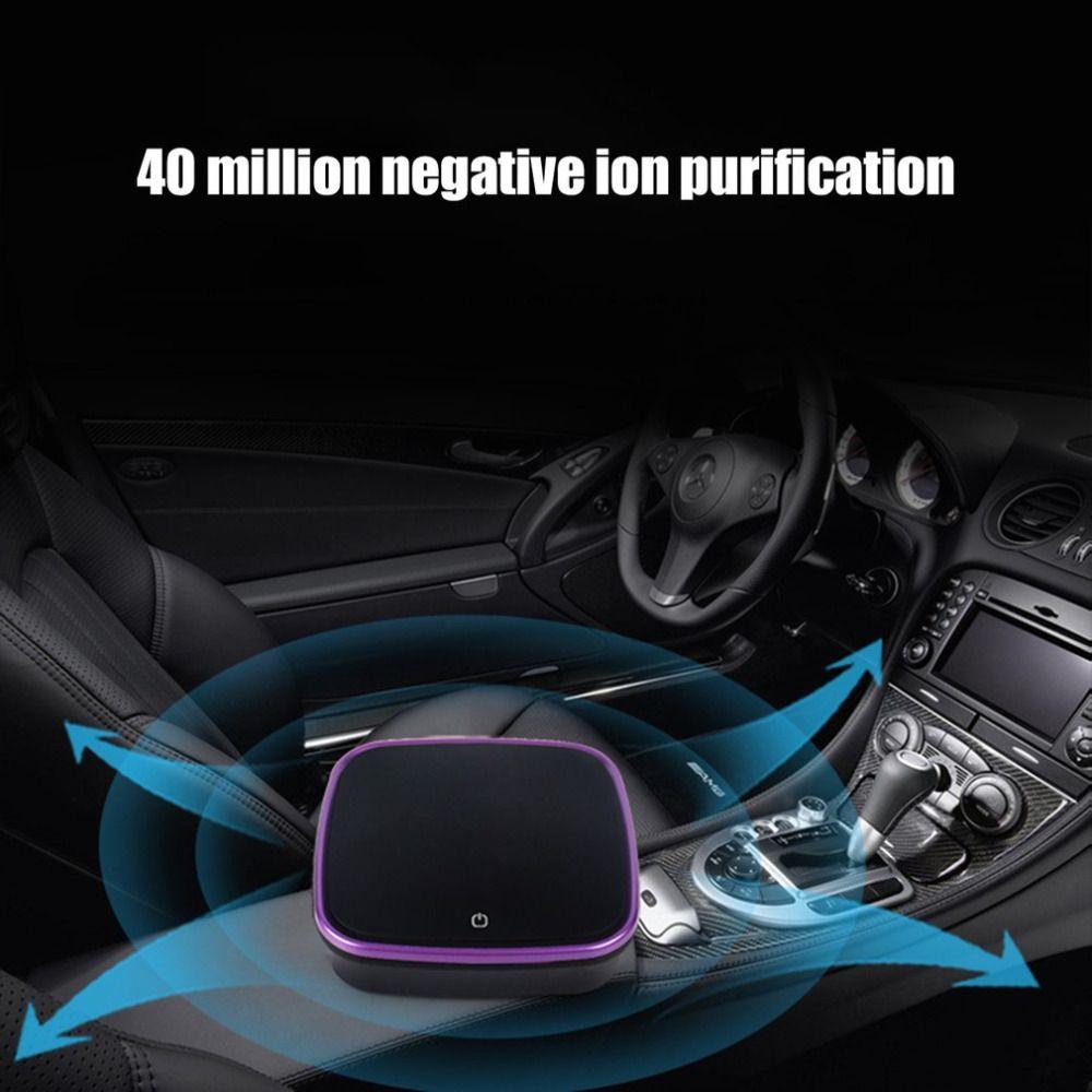 Автомобильный Очиститель Воздуха с Фильтром Освежитель Очиститель Отрицательный Ионизатор USB Формальдегид Бактерии Очиститель Запаха Авто Товары