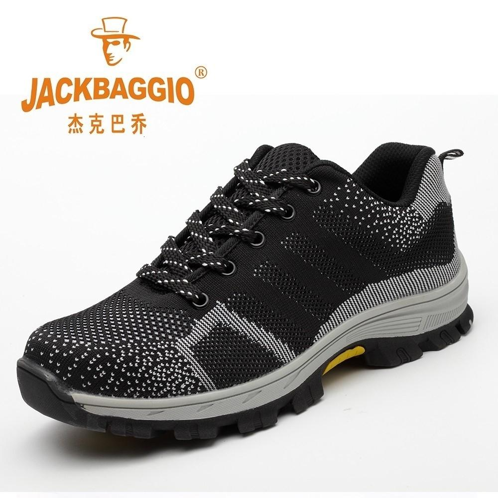Homens Trabalho Shoes Toe de segurança em aço, respirável antiderrapante trabalho calçados casuais, anti-quebrando Penetrante construção de borracha Sole Homens Boots. SH190928
