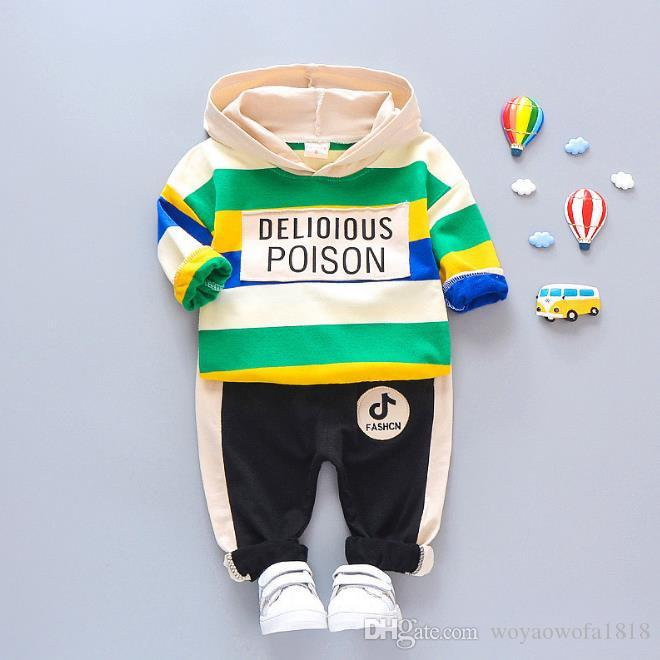 Kids Coat Pant 2Pcs/sets 1-4T Children Sets 4 Colors Baby Boys Girls Fleeces Kids Coat Pants Kids Sets Spring Winter F175202