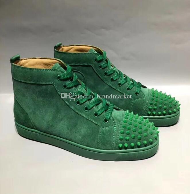 2020 New Designer High Top Man Casual Shoes Woman Sneaker Fashion Rhinestone Red Blue Green Party Wedding Shoes Drop Shipping With Box