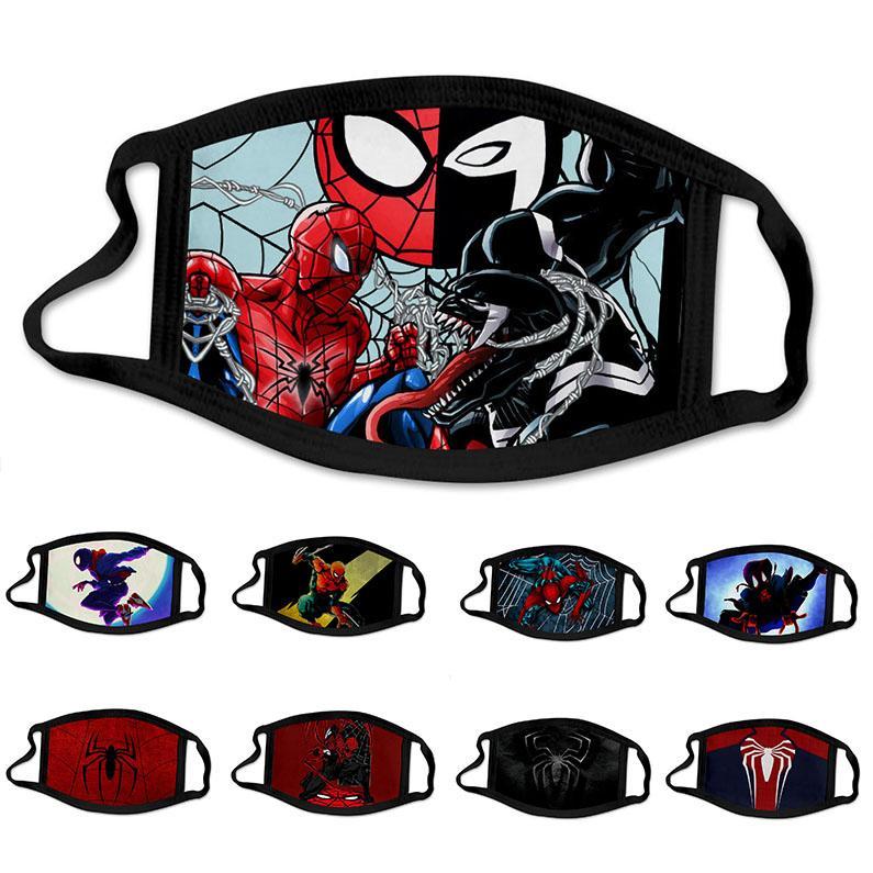 Симпатичные Человек-паук Человек-паук герой супер дизайнер роскоши Kid маска партии Cosplay Многоразовый моющийся Dust ветрозащитный Дети хлопок маски