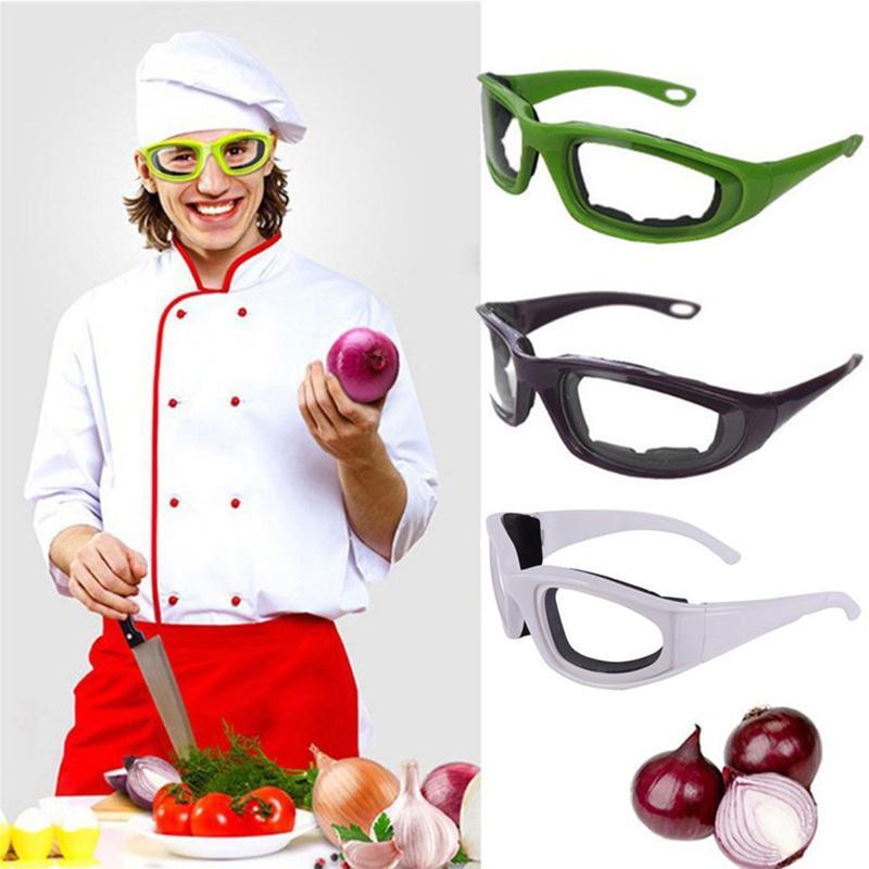 1pc Acessórios de cozinha Onion Goggles Óculos de segurança Churrasco Olhos Protector face Shields Cozinhar Ferramentas cor verde