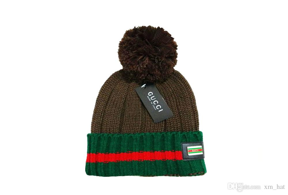 Wholesale 2019 Autumn Winter Beanies for Women Men Cheap Casual Pom Pom Knitted Hats Accept Drop Shipping Mix Order