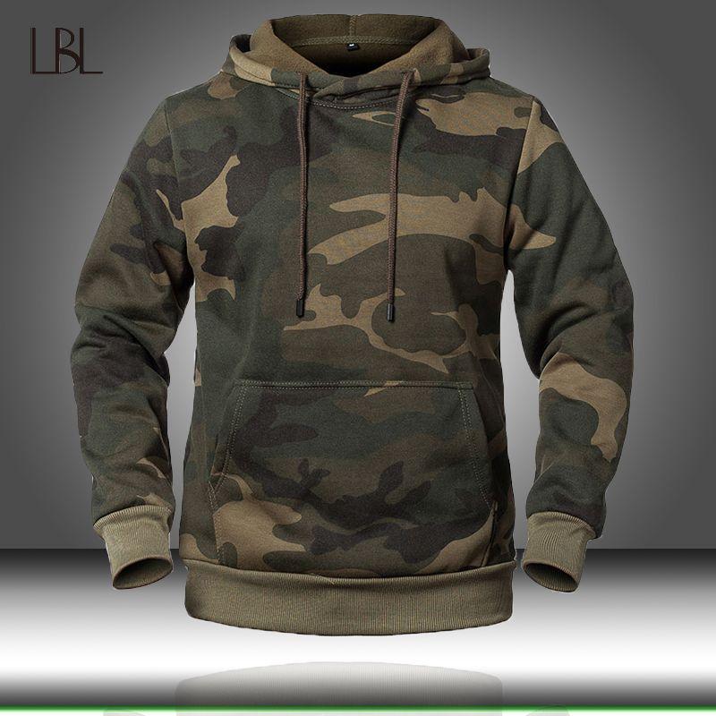 Camouflage Hoodies Men 2020 New Fashion Sweatshirt Male Camo Hoody Hip Autumn Winter Hoodie Mens Clothing US/EUR Size