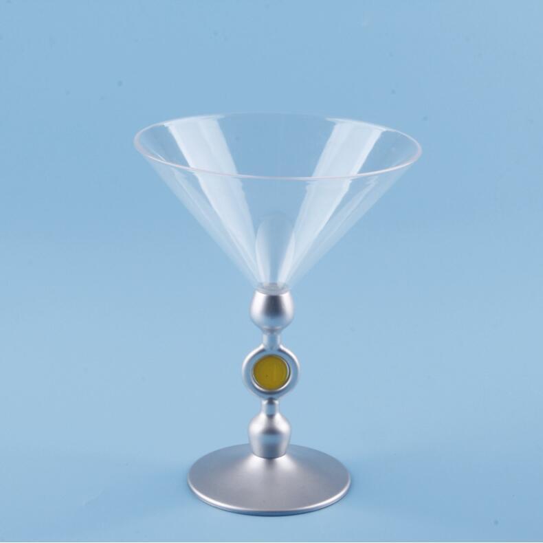 kadehler şampanya Flüt Goblet Plasik martini cam dört renk rastgele deliery 36PCS başına cartonenvironmental 170ml ps bırakarak nakliye