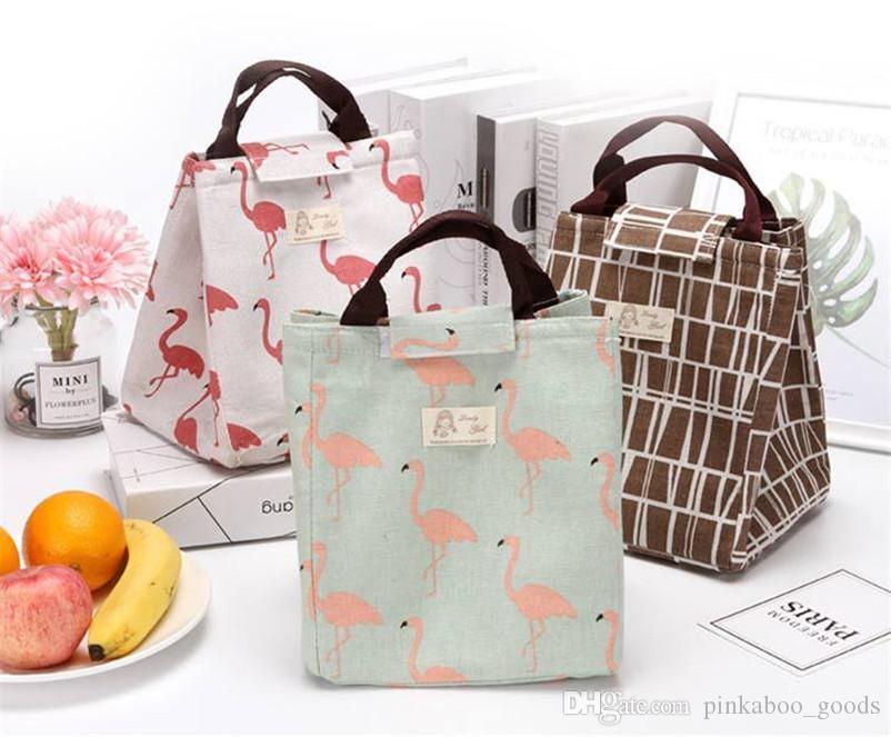 Taşınabilir öğrencilerin beslenme çantası çanta Isı Yalıtımı Çanta Hayvan Baskı Soğutucu Çanta Çanta Açık Piknik Su geçirmez Gıda Saklama Torbası B71801