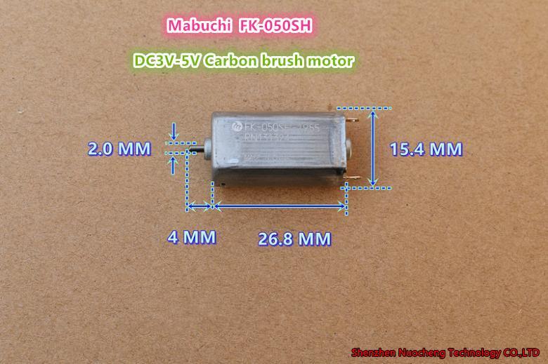 10PCS / 많은 브랜드의 새로운 FK-050SH 050 DC 모터 3V ~ 5V 고속 긴 수명 기대 탄소 브러시 모터