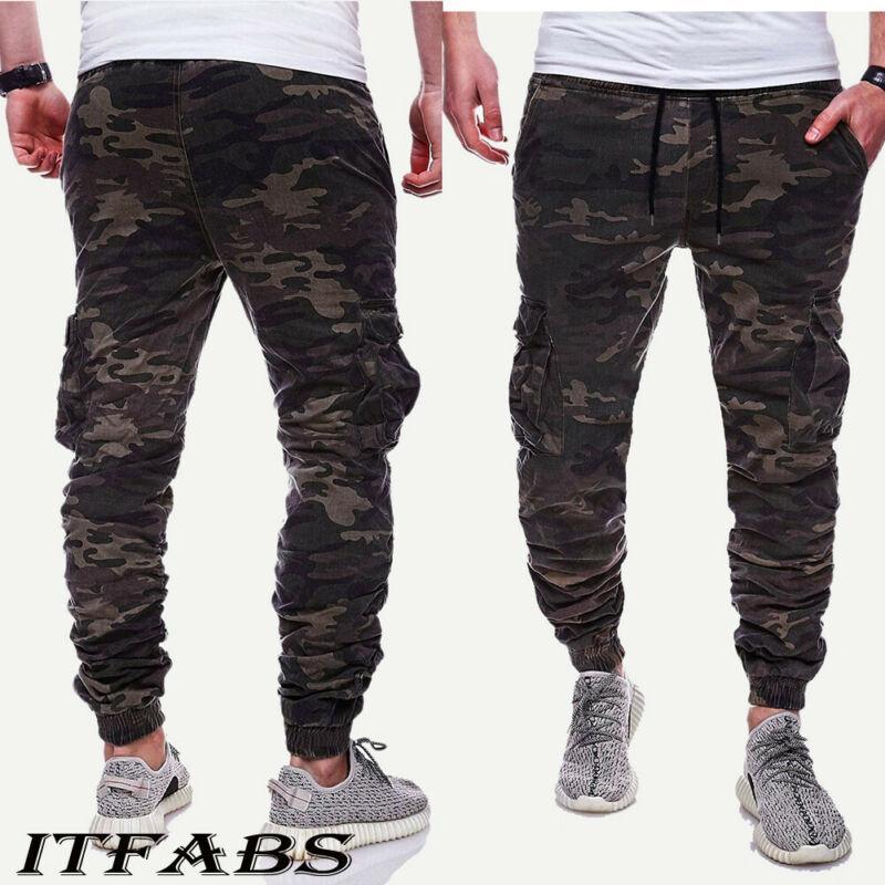 Великобритания Мужчины спорт тренажерный зал брюки Slim Fit йога бег трусцой случайные длинные брюки спортивные брюки
