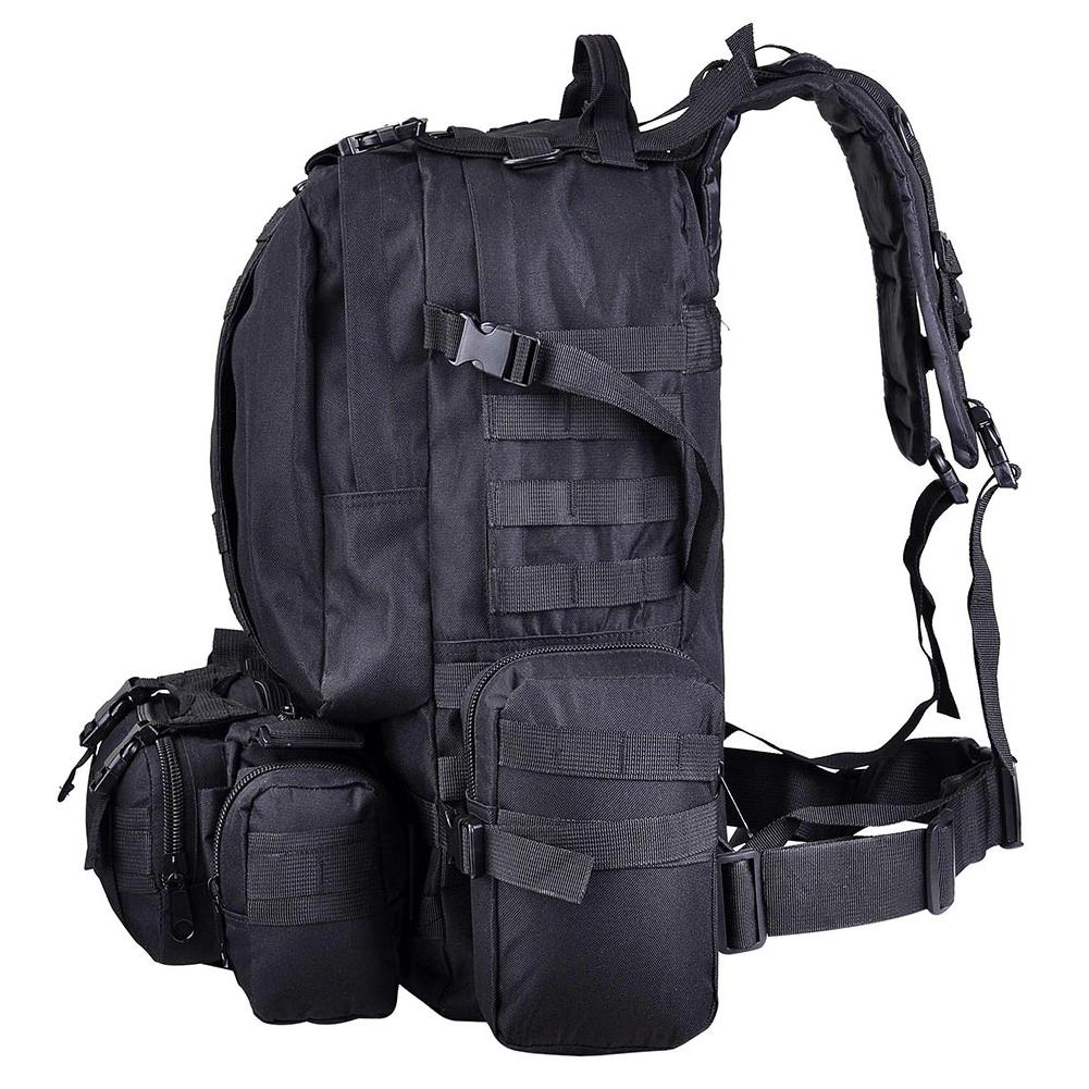 55L Backpack Tactical Trekking Large Capacity Hiking Hunting Outdoor Bag Sport Molle Rucksack Army Camping Practical