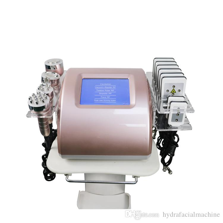 newly 6in1 Ultrasonic Cavitation lipo laser Radio Frequency professional body slim machine for spa use on sale