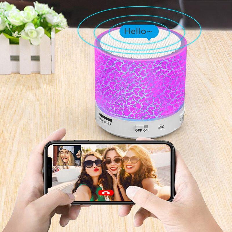 Bluetooth Speaker Led Portable Mini Wireless Speaker Player USB Radio Fm Mp3 Music Sound Colum for PC Mobile phone Xiaomi Free shipping