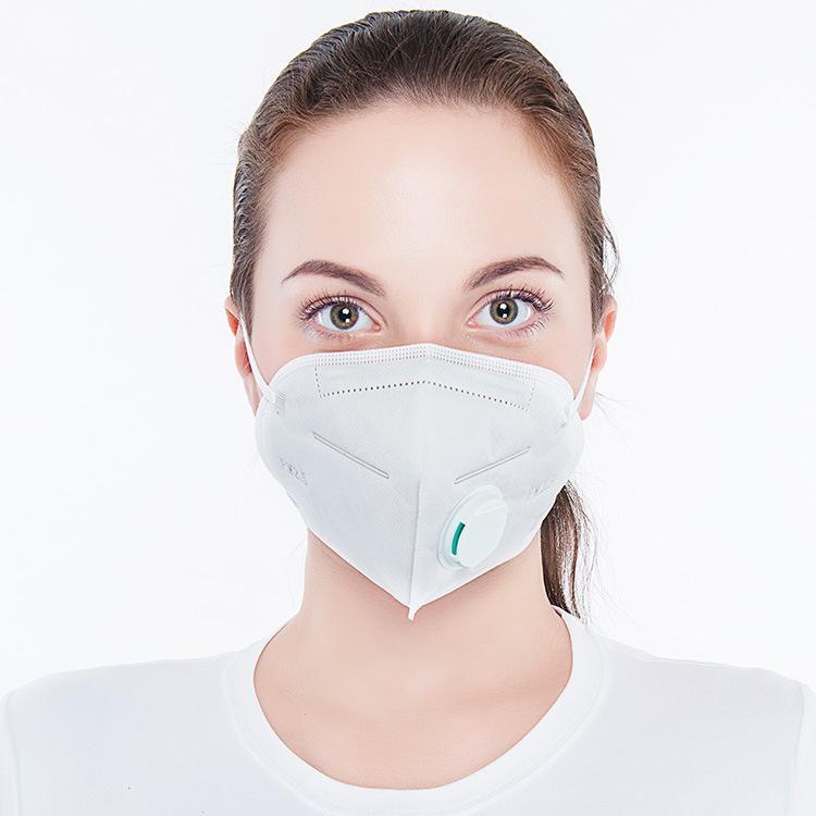 mascarilla con Mascarillas filtro lavable filtro de carbón del respiradero de la válvula PM2.5 cara algodón máscara boca de la máscara a prueba de polvo protector