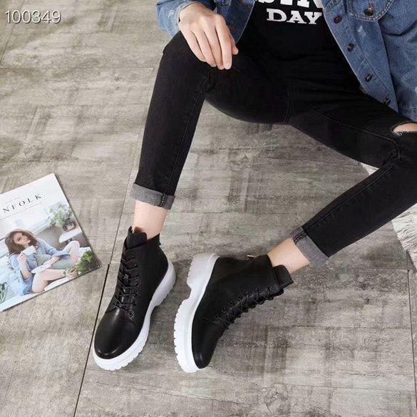 Дизайнерская обувь зимняя роскошная мода кожаные пинетки звезда с черно-белыми классическими дамскими снегоступами 35-40