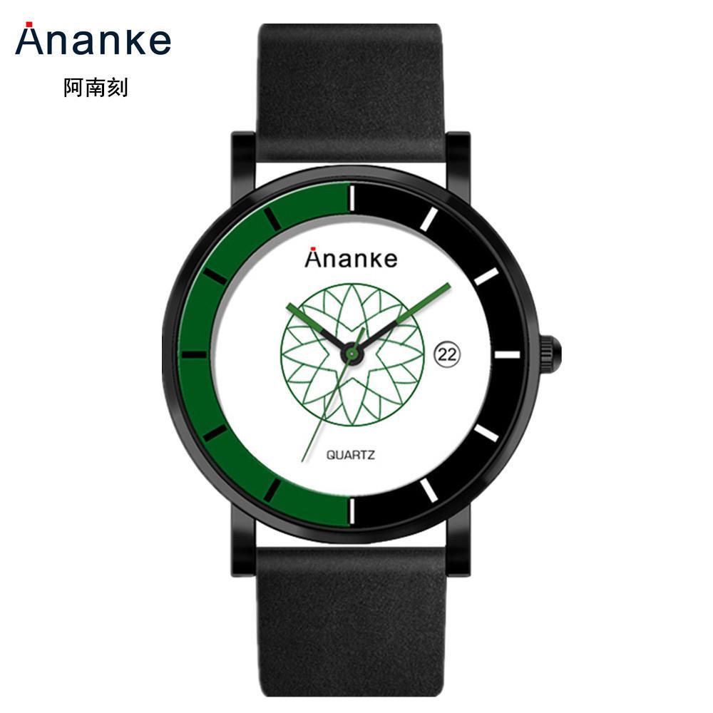 Anke transfronteiriça e-commerce relógio popular quente relógio cinto de quartzo dos homens