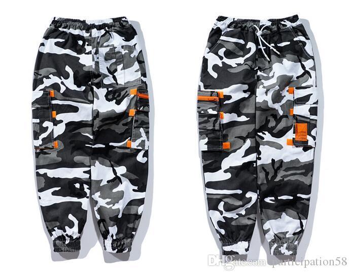 New 2 coloe cool Camo Tactical Joggers Pants Men Streetwear Black Harem Harajuku Casual Sports Pants Men Cotton