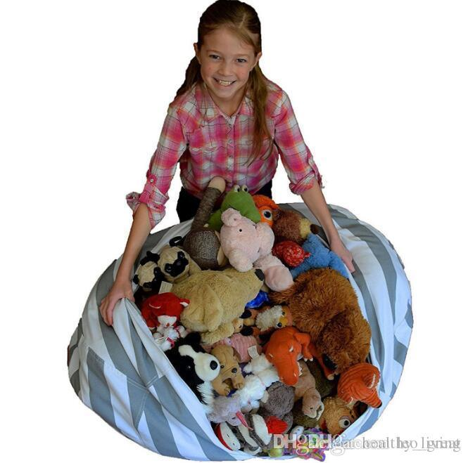 Kids Storage Bean Bags Plush Toys Beanbag Chair Bedroom Stuffed Animal Room Mats Portable Clothes Storage Bag
