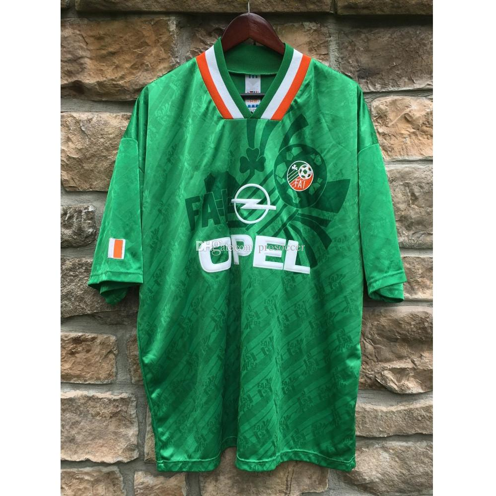 Retro Irlanda 1990/1994 Jerseys de futebol Keane Aldridge Futebol Camiseta Camiseta Vintage Kit Maillot Maglia